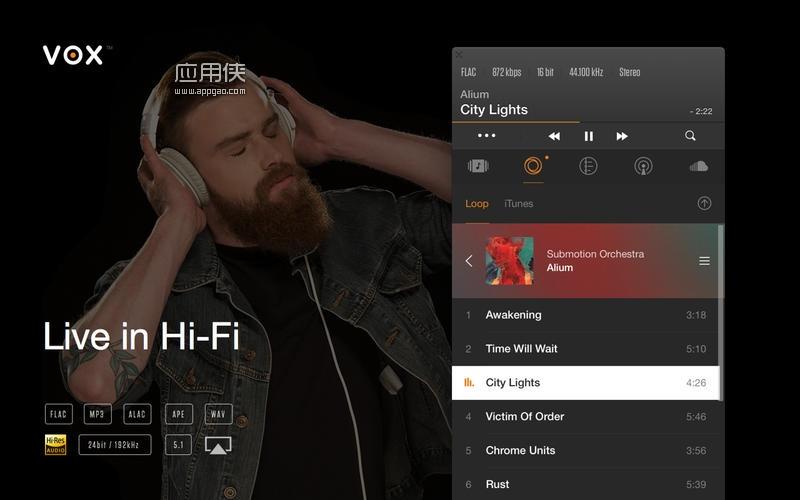 VOX - mac 上的无损音乐播放器
