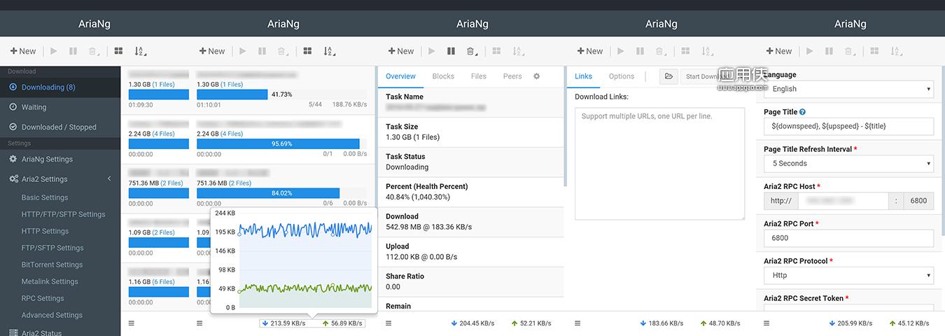 AriaNg - 让 aria2 更容易使用的现代 Web 前端