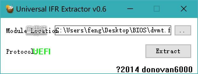 Universal IFR Extractor - 将EFI和UEFI的模块转换成文本文件