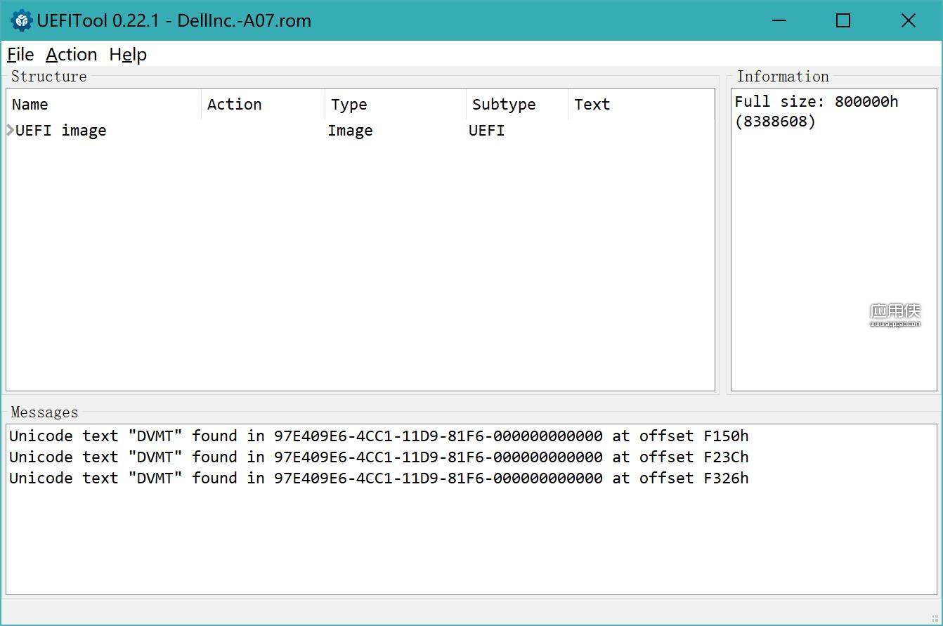 UEFITool - BIOS UEFI 信息提取工具